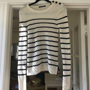 Scotch & Soda Navy Striped Sweater Size S